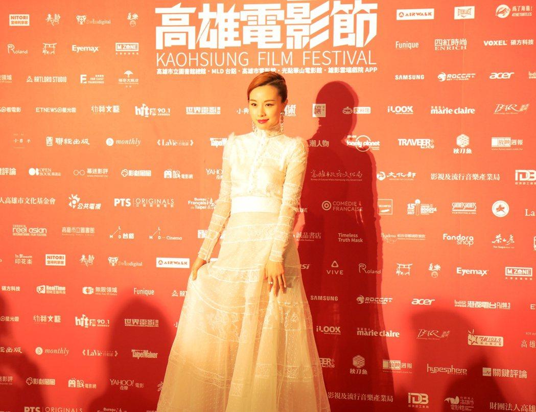 港星鄧麗欣來台出席高雄電影節活動。 圖/高雄電影節提供