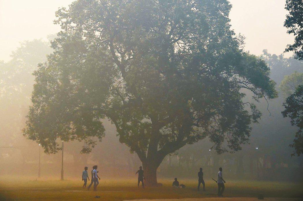 北京、新德里的霧霾日常北京與印度新德里(圖)霧霾嚴重,民眾戴上口罩出門已是日...