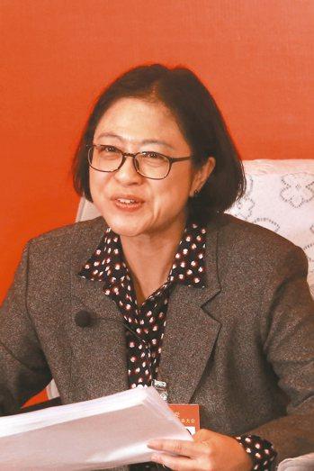 中共十九大台籍黨代表盧麗安。 記者林庭瑤/攝影