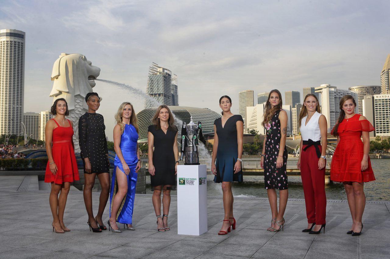 賈西亞(由左至右)、大威廉絲、沃茲妮雅琪、哈蕾普、蒙奎露扎、普莉絲可娃、絲薇托莉...