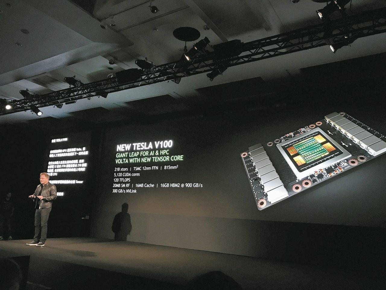 台積電投入3奈米廠主要將迎合高效運算世代來臨。圖為輝達採用台積電12奈米晶片,全...
