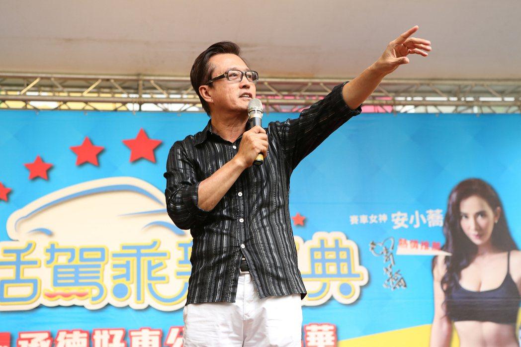 藝人檢場在現場分享經驗。圖/台北市承德汽車商圈發展促進會提供
