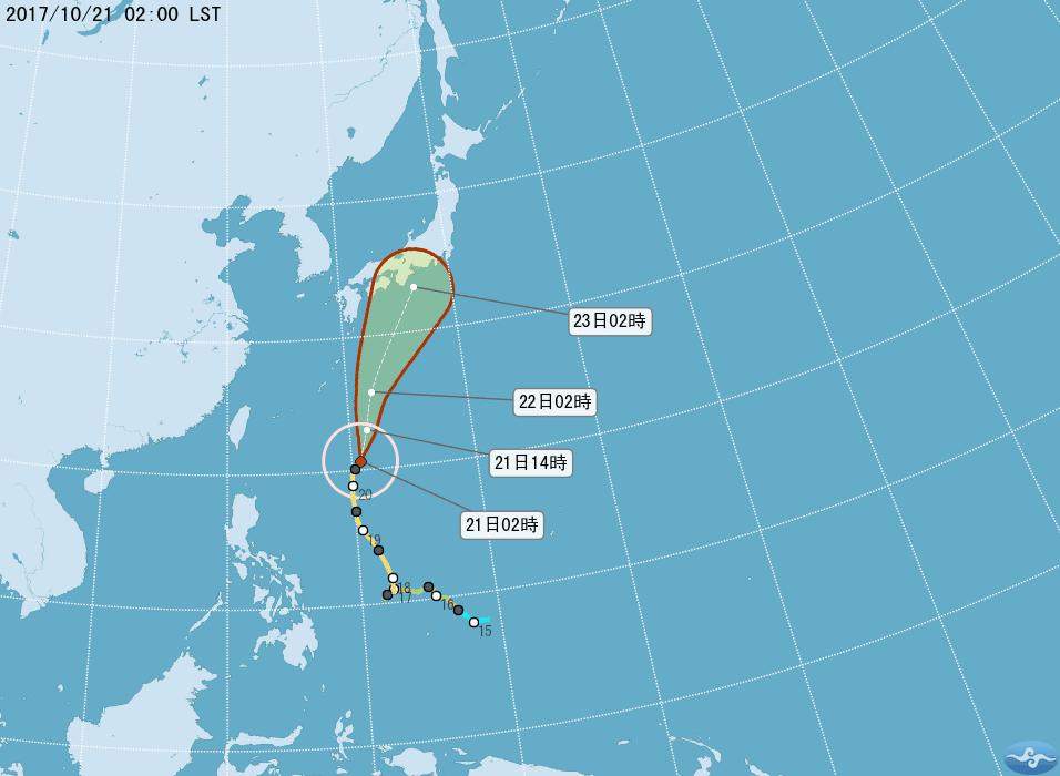吳德榮說,中颱蘭恩受其東側太平洋高壓導引偏北移動;向日本南方海面前進,接近日本時...