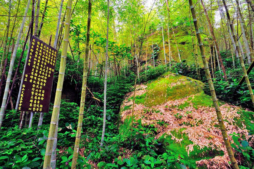 位於 162甲線往太平山區的民番界碑。圖/梅山文教基金會提供
