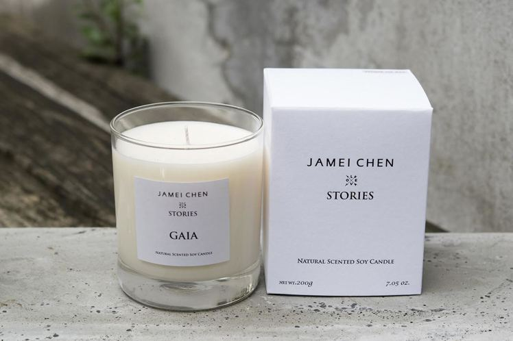 JAMEI CHEN X STORIES大豆蠟燭GAIA。圖/JAMEI CHE...