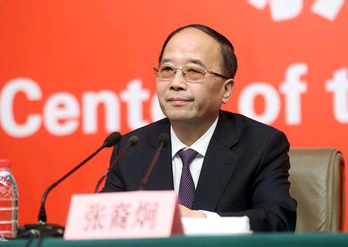 中共中央統戰部常務副部長張裔炯今日在十九大中外記者會上表示,「十四世達賴喇嘛是披...