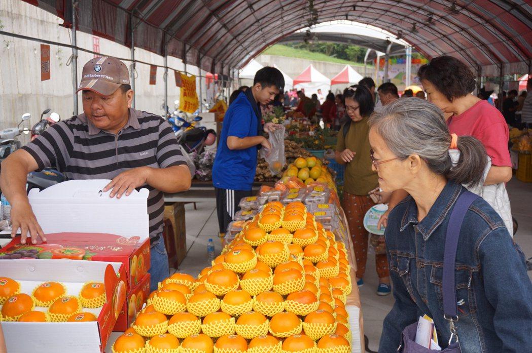 柿子節展售番路各種柿子產品。圖/嘉義縣政府提供