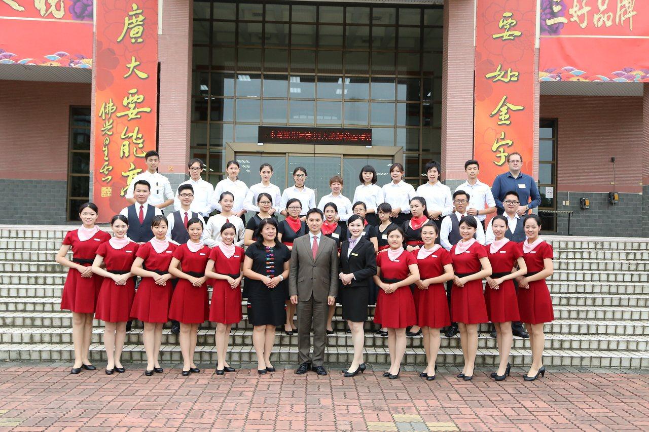 親善大使團隊成立3年。圖/南華大學提供