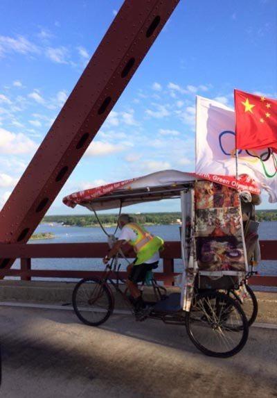 騎三輪車環遊世界17萬多公里的中國大爺陳冠明,取自陳冠明臉書