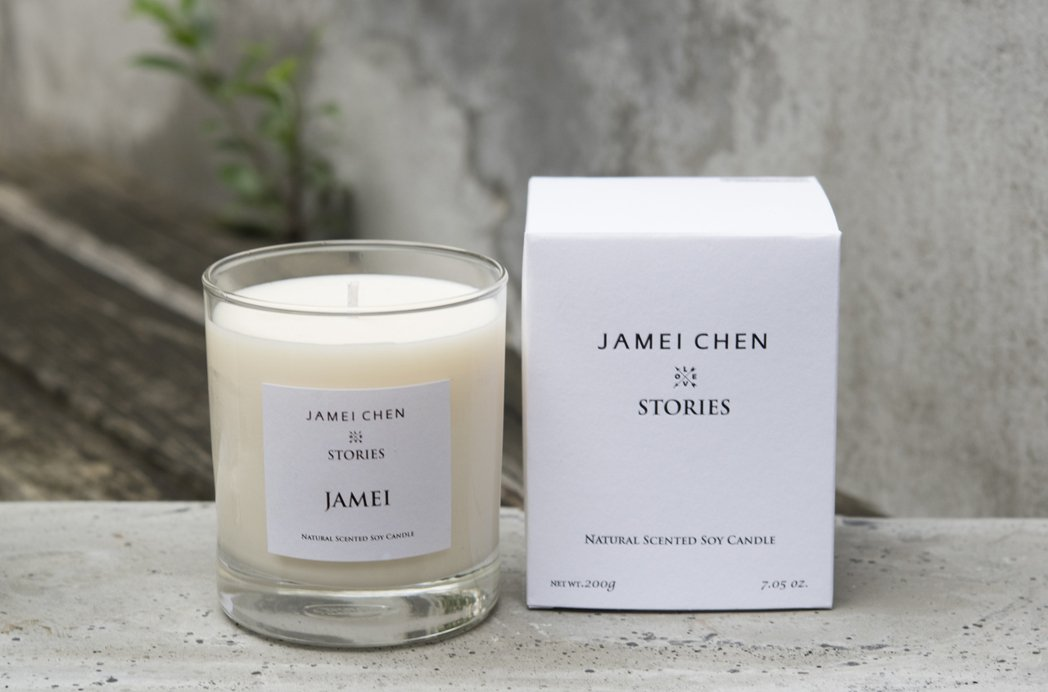 JAMEI CHEN X STORIES天然香氛精油大豆蠟燭以概念調製天然純粹的...