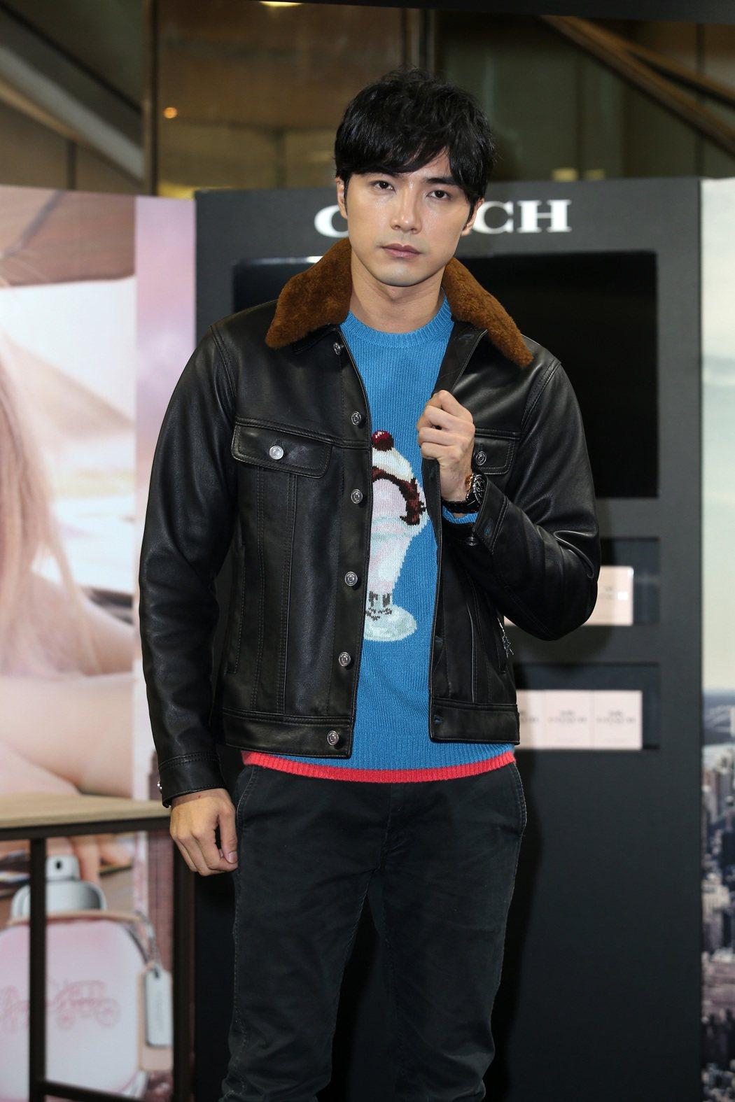 藝人賀軍翔出席COACH時尚經典男性淡香水上市活動。記者曾吉松/攝影
