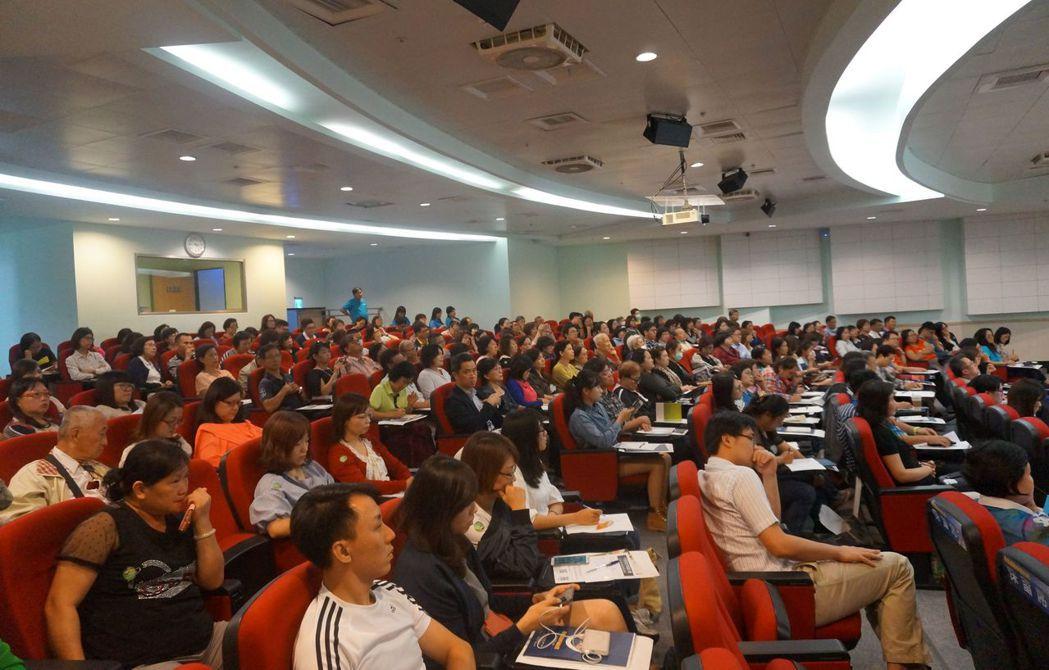 「不長照的幸福台灣:安老資源聰明配論壇」吸引眾多對台灣長照環境有興趣的聽眾。圖/...