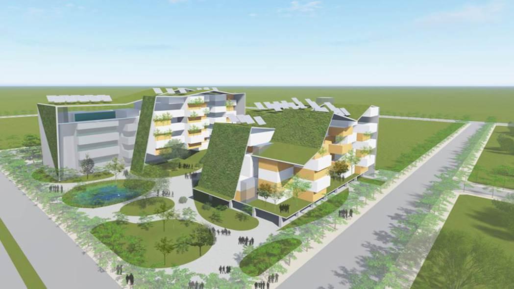 台糖將在歸仁沙崙推出全台第一座循環建築,打造示範型安家住宅。 圖/台糖提供