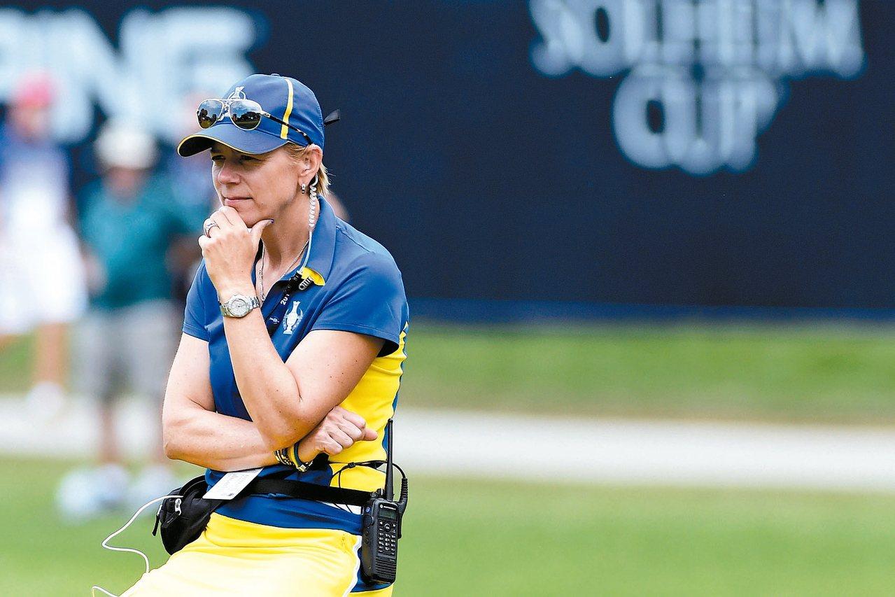 瑞典籍前高爾夫球后安妮卡.索倫絲坦現在是高球場設計師。 路透