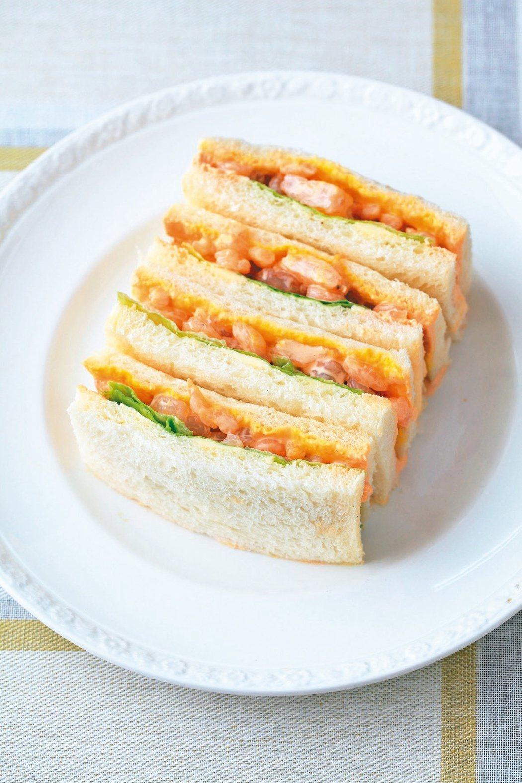 鮮蝦三明治。圖/商周提供