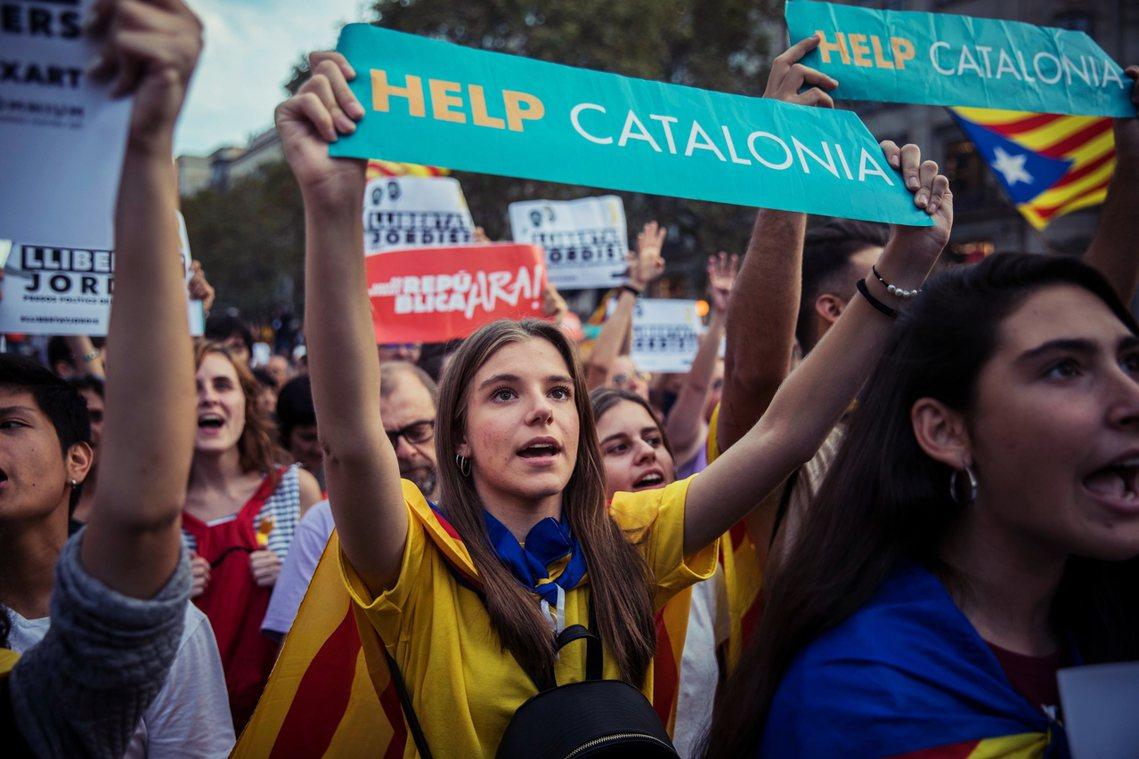 加泰隆尼亞的獨立路,將面臨殘酷的關鍵時刻。 圖/美聯社