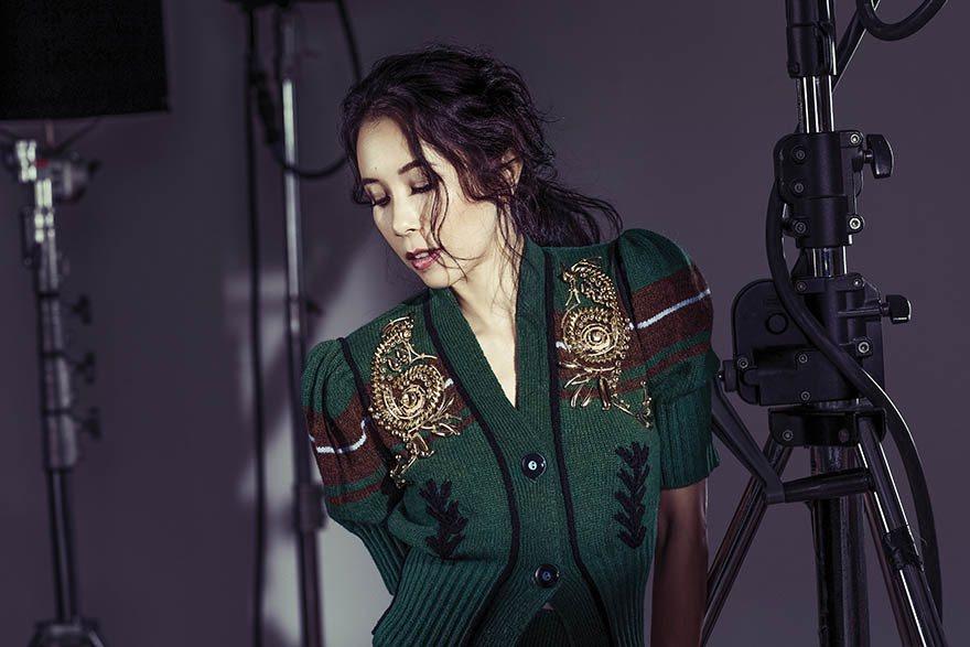 公主袖針織套裝(Prada)