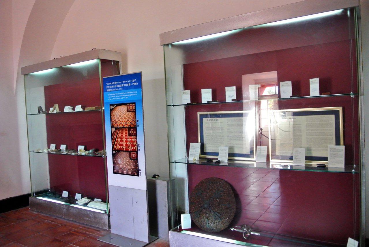 20世紀英國領事最後一封電報現於淡水紅毛城2樓展示。圖/淡水古蹟博物館提供