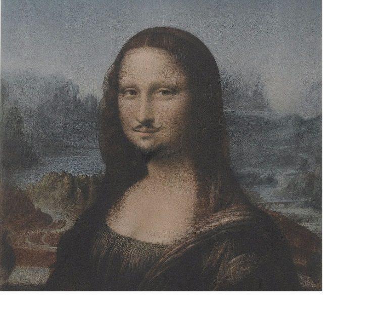 杜象重製的蒙娜麗莎之一。取自網路