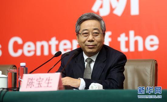 大陸教育部長陳寶生。擷取自新華網