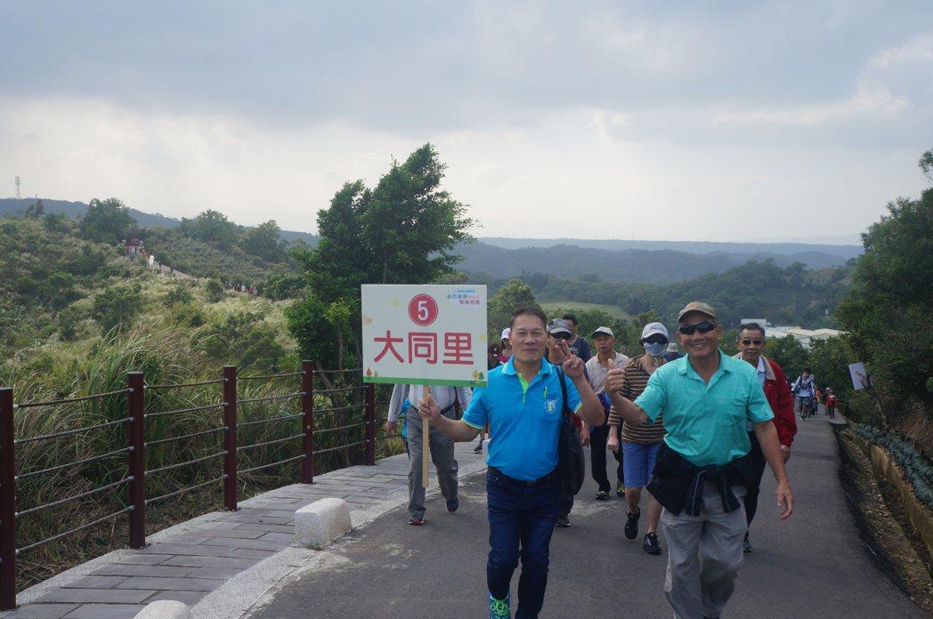 楊梅區各里都報名秀才步道健走。圖/桃園市楊梅區公所提供