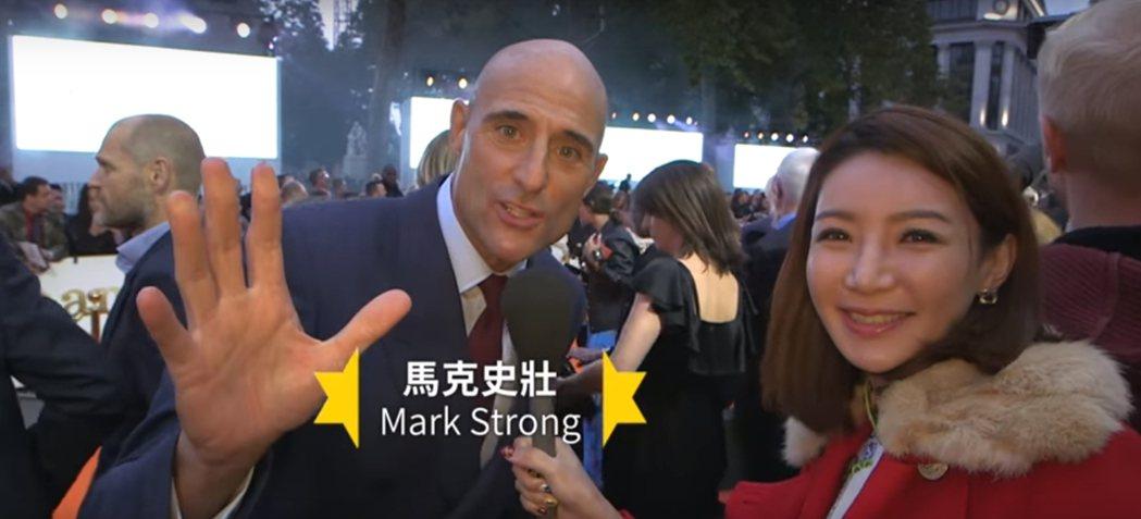「金牌特務2」馬克史壯向台灣粉絲打招呼。圖/摘自Youtube