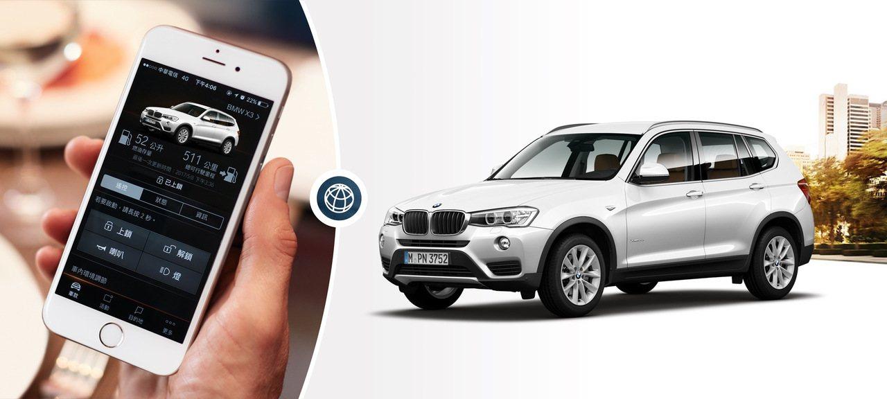 BMW X3智能領航版升級配備智慧互聯駕駛套件。圖/汎德提供