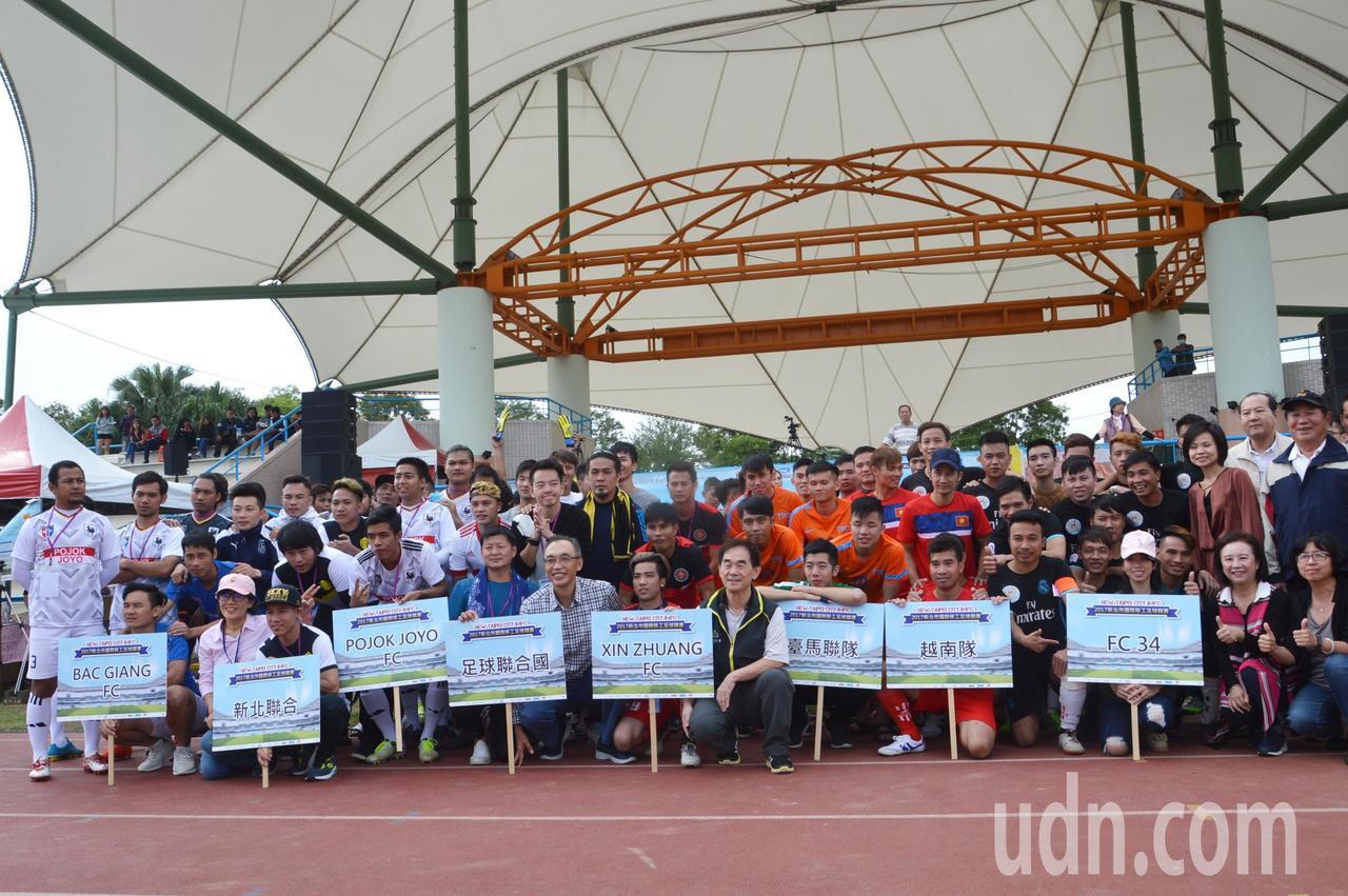 移工足球賽首次登場,共8隊120人參加。記者施鴻基/攝影