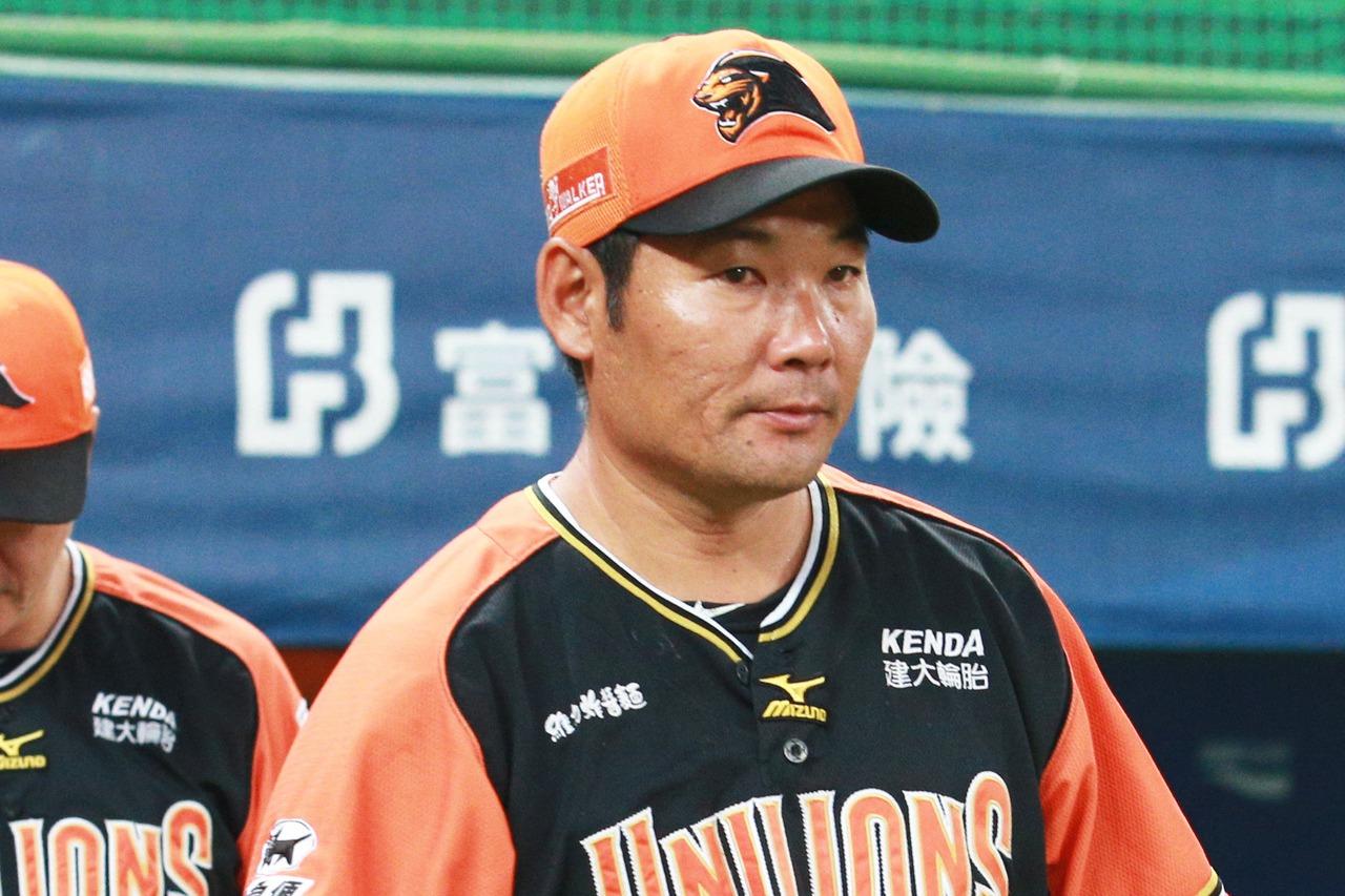統一獅總教練黃甘霖。 記者劉學聖/攝影