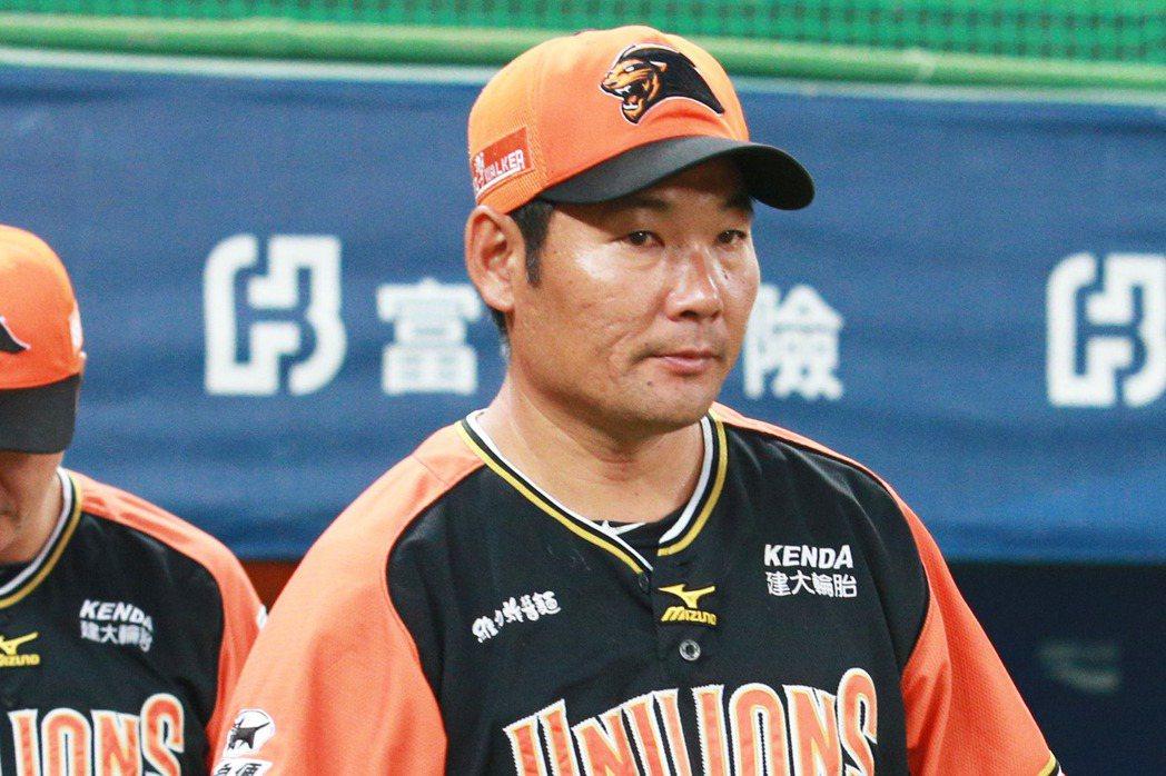 統一獅總教練黃甘霖。 聯合報系資料照