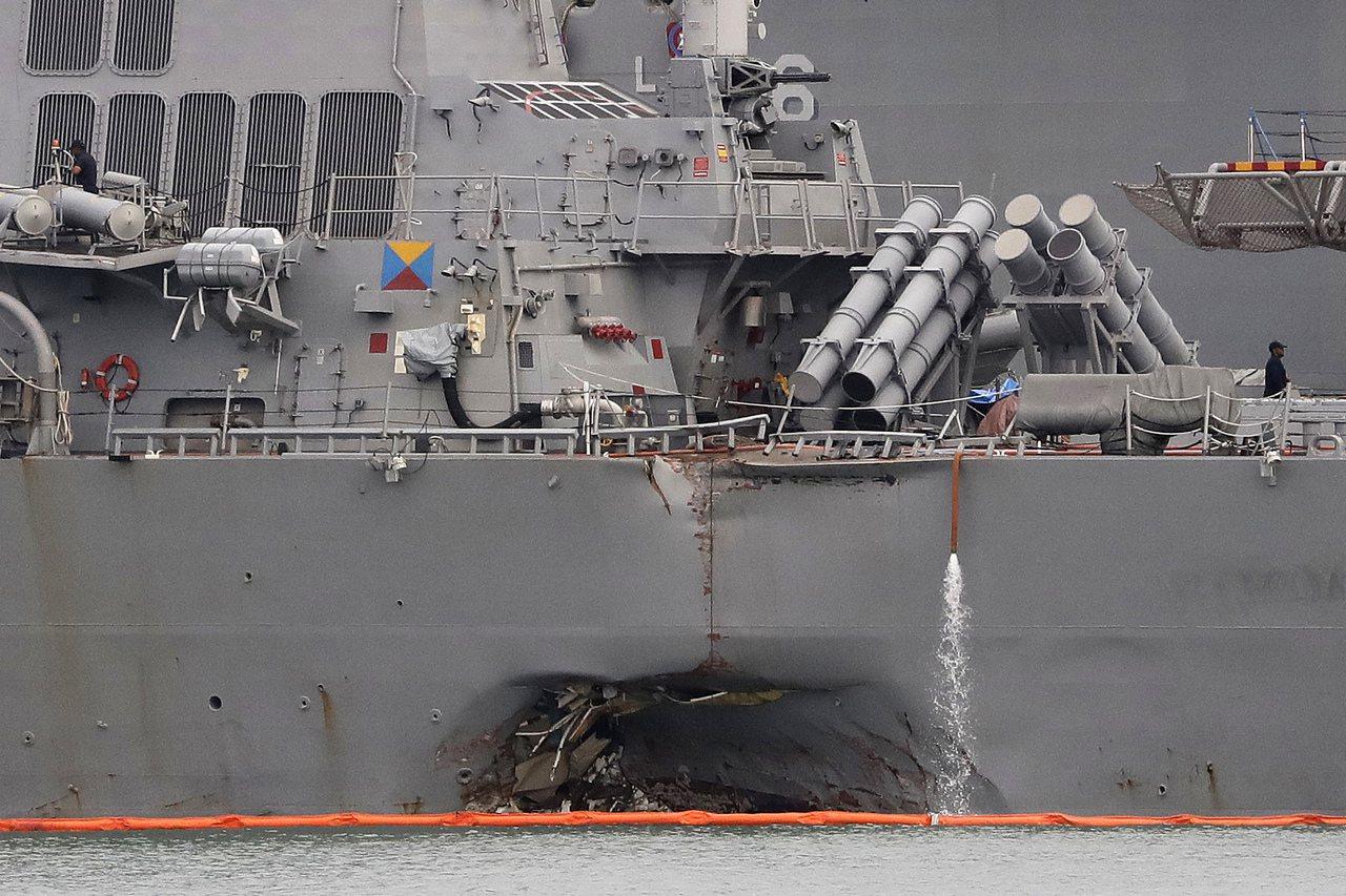 馬侃號飛彈驅逐艦殉職士兵家屬在事隔近兩個月後,收到美國總統川普致信慰問。美聯社