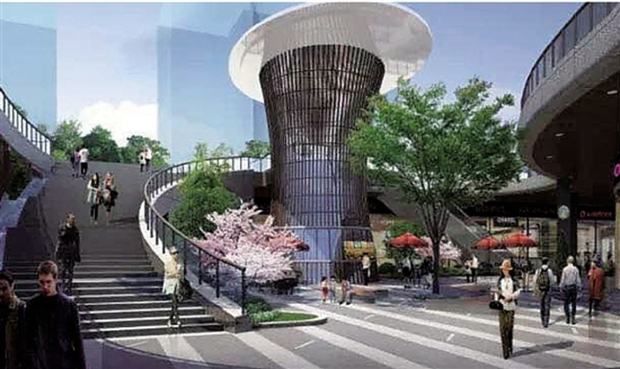 杭州蕭山人民廣場,要砸10億元人民幣開發地下空間。(取材自錢江晚報)