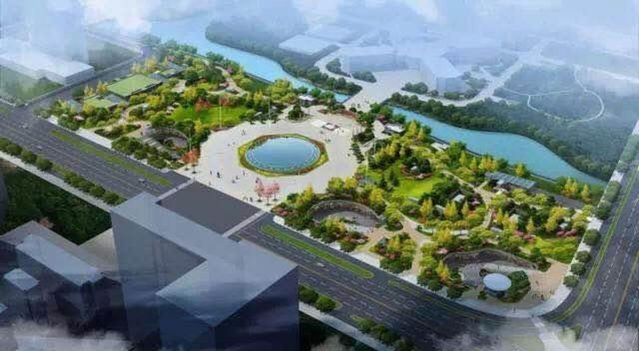 蕭山人民廣場中間將有一個中央噴泉,還有文化廣場區、綠色閱讀區、共享交流區、藝術花...
