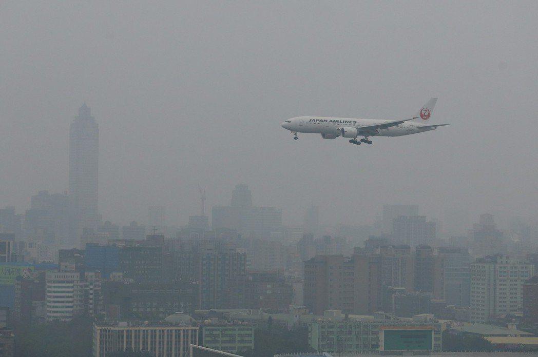 大陸冷氣團南下,常把華北汙染的霾害帶到台灣。 報系資料照