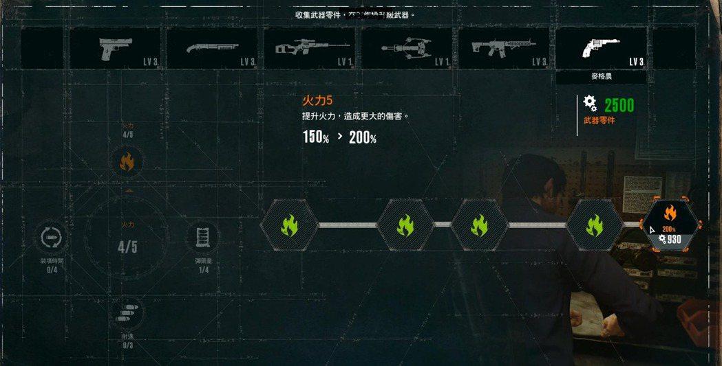 武器的升級系統被獨立了出來