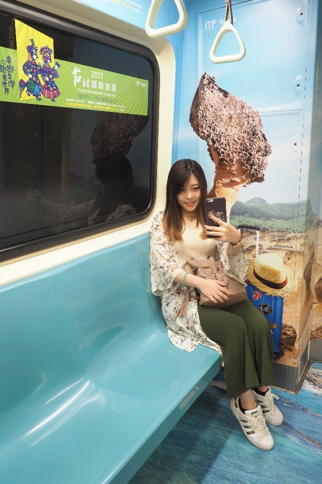 快跟彩繪車廂打卡,把旅展好康分享給大家吧!(提供/台灣觀光協會)
