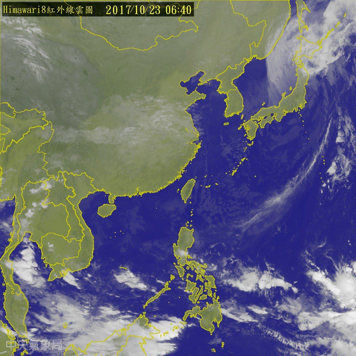 受乾冷東北季風影響,各地天氣大致穩定,中南部日夜溫差大。圖/翻攝氣象局網站