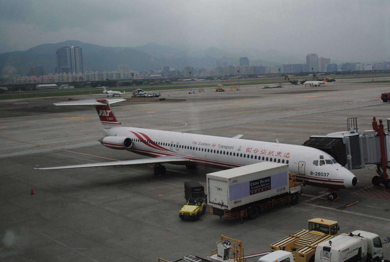 遠東航空機隊老舊頻出狀況,遠航表示已向民航局提出機隊汰換計畫。 記者楊文琪/攝影
