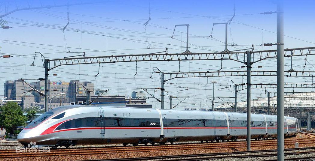 大陸復興號高鐵列車。擷取自百度百科