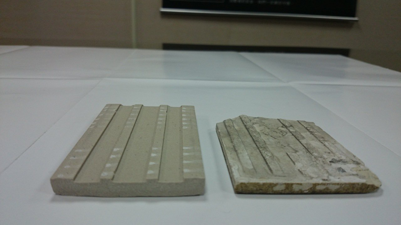 陶瓷公會表示,合格的外牆磚且需具備「背溝倒勾狀凹槽」設計之產品,同時推動訂立施工...