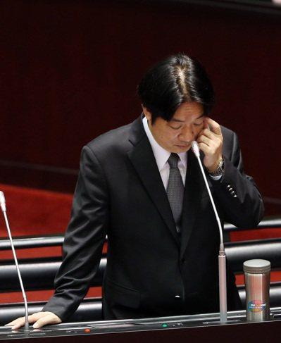 賴清德表示希望客委會主委李永得與國民黨立委間的這件事到此為止。記者曾吉松/攝影