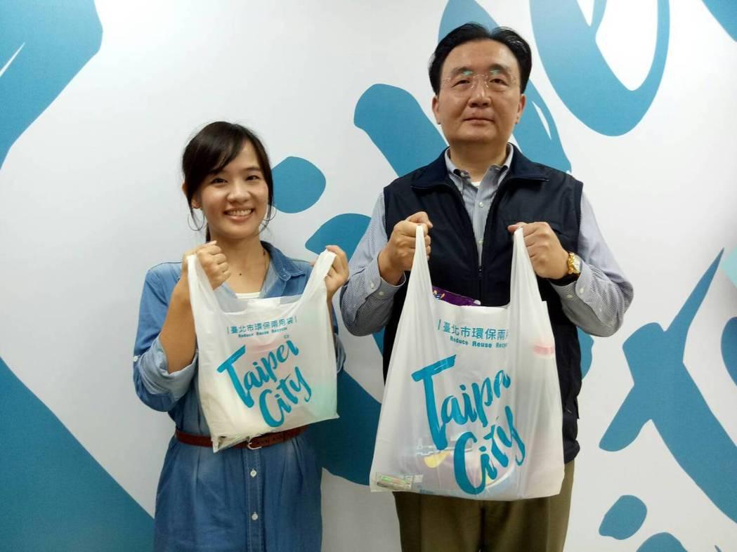 北市超商、超市、量販店明年將禁止販售各式購物用塑膠袋,只能販售購物用塑膠袋與專用...