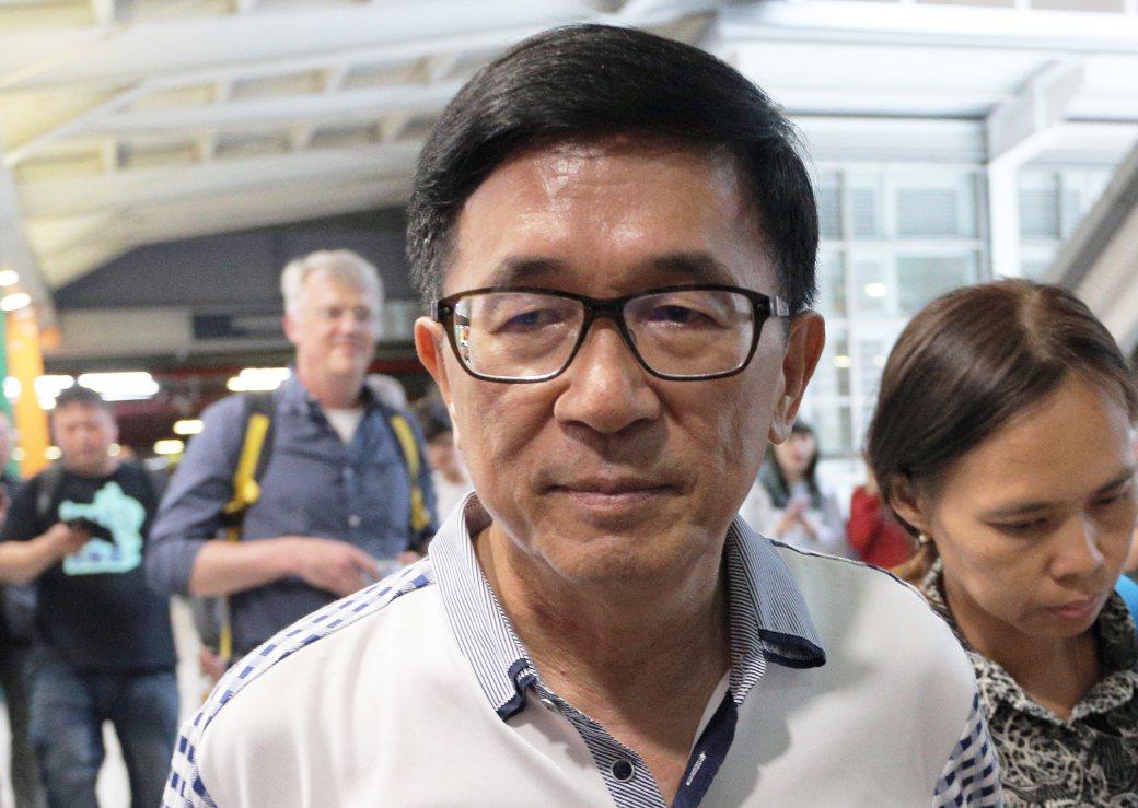 前總統陳水扁今搭高鐵北上。 圖/聯合報系資料照片