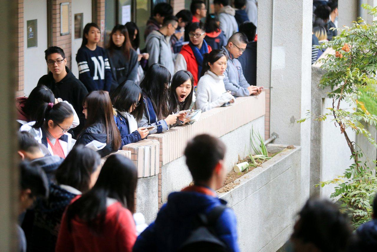 大學學測考試。本報資料照/記者林伯東攝影