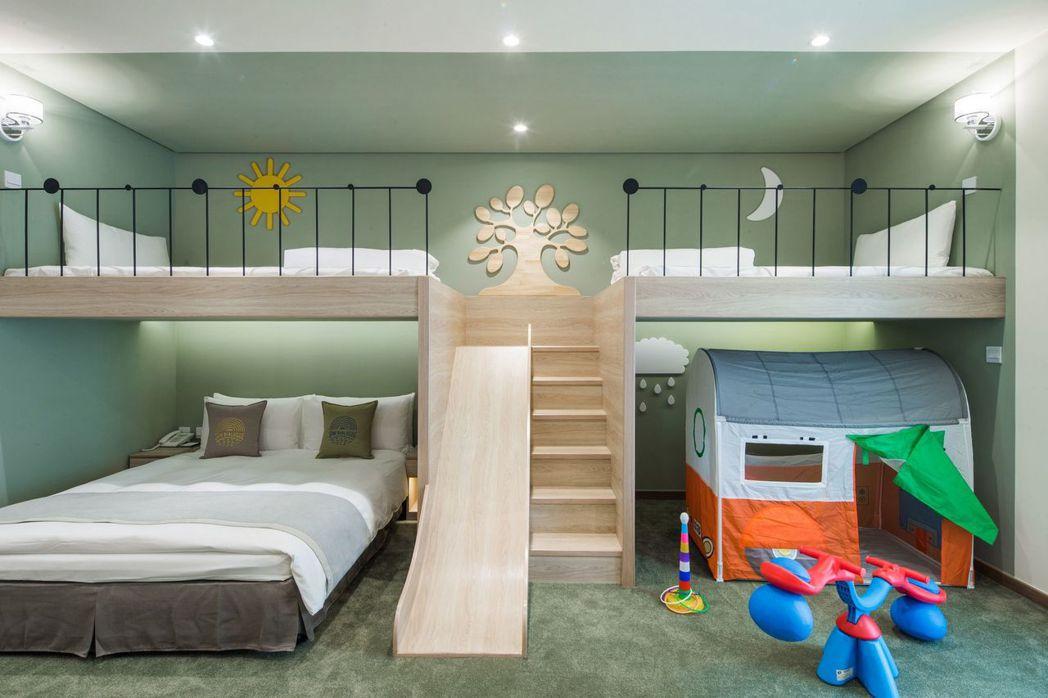 「繪日之丘」頂級豪華家庭房,有亮點。 天成文旅/提供