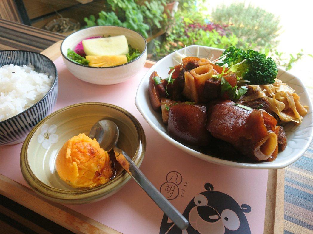 八玥文創附設餐廳的人氣餐點。 徐谷楨/攝影