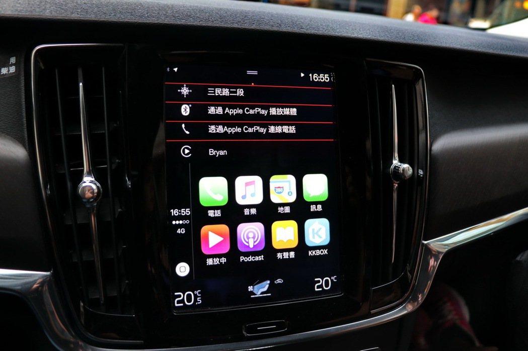 支援Apple CarPlay。 記者陳威任/攝影