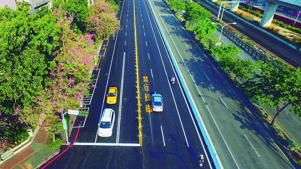 台中市政府建設局執行4年500公里路平專案,目標超前,已突破420公里。