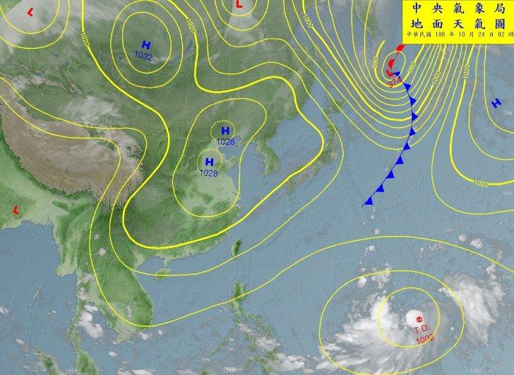 吳德榮指出,關島東南方的熱帶性低氣壓正蘊釀中,今天有機會發展成第22號颱風「蘇拉...