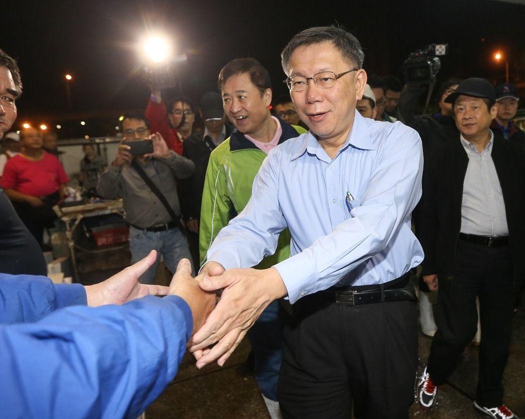 台北市長柯文哲(前)。聯合報系資料照/記者黃威彬攝影